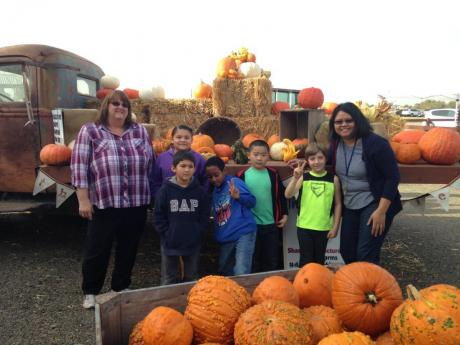 John Morse students at the pumpkin patch