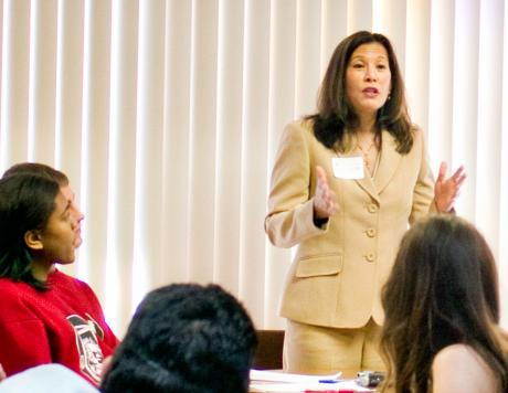 Image of Chief Justice Cantil-Sakauye returns to CKM to address Law Academy