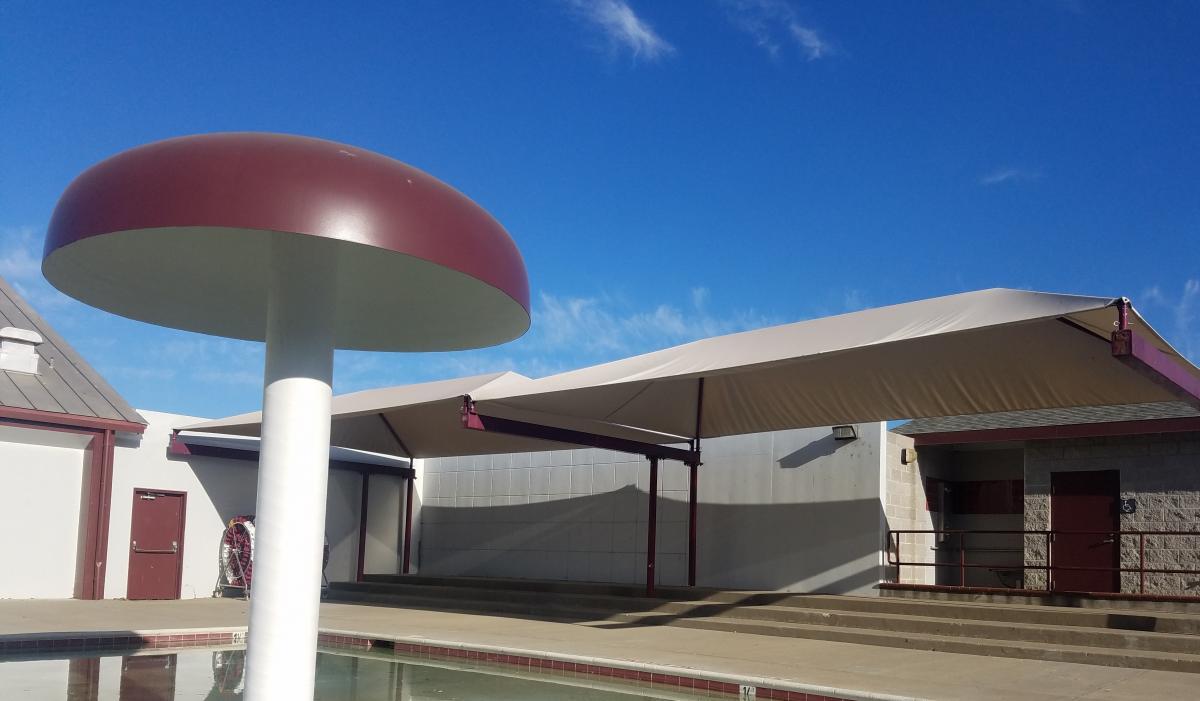 Hiram Johnson's new pool shade structure - Sacramento City