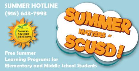 Sign Up Now For Our Summer Programs! - Sacramento City