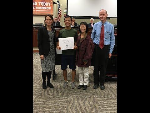 Board of Education recognizes nationally-renowned student pianist Parker Van Ostrand