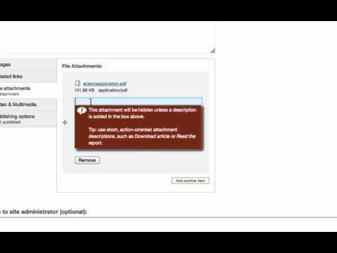 Quick Videos: Add a document to a post