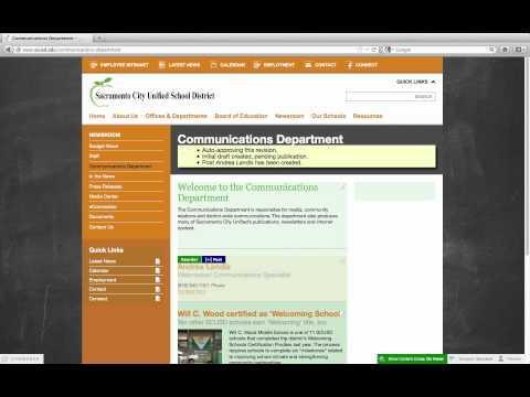 Create a District Staff profile post