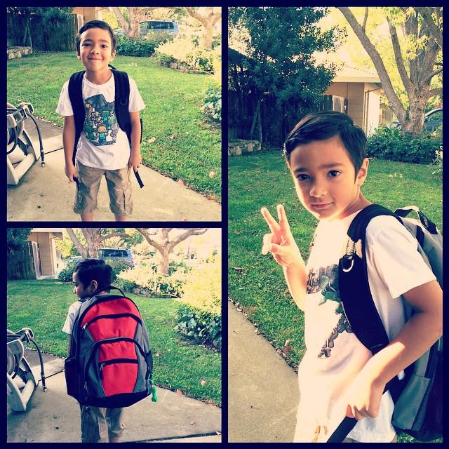 First day of 2nd grade!! #SacGoesBack #backtoschool #summerisover #sadmomma #mybaby
