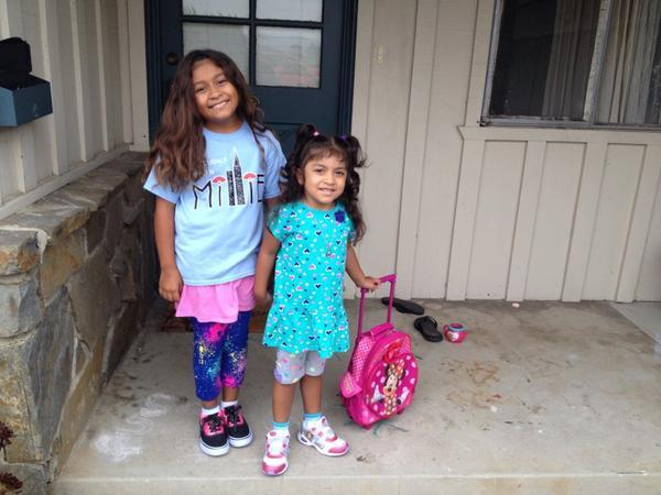 These two are ready for school! Are you excited? Share your back to school pics. #BacktoSchoolECE #sacgoesback