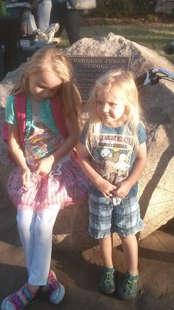 #SacGoesBack First day of second grade with baby sis.