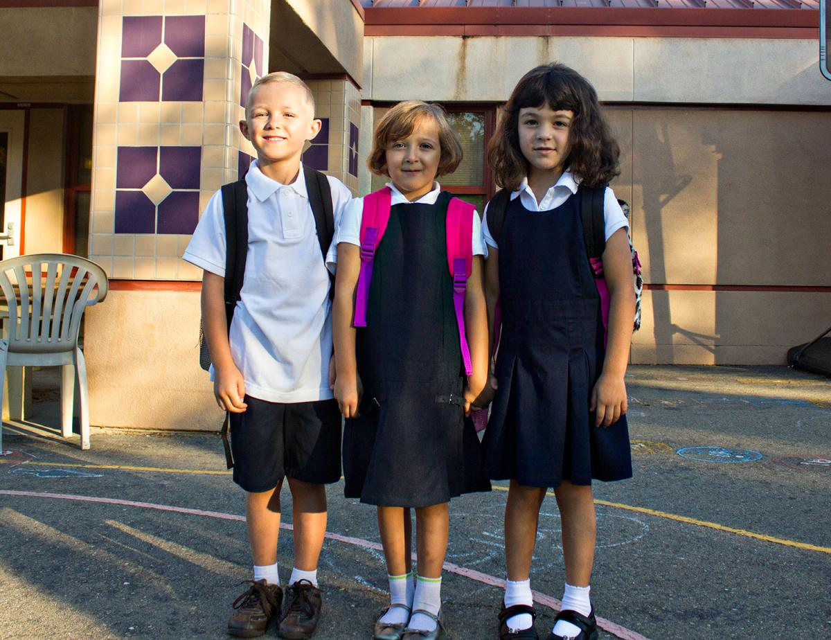 Ethan Roach, Emma Roach and Olivia Messer -- all 5 -- are ready for their first day of kindergarten at Matsuyama Elementary School. Click the image to see more photos.