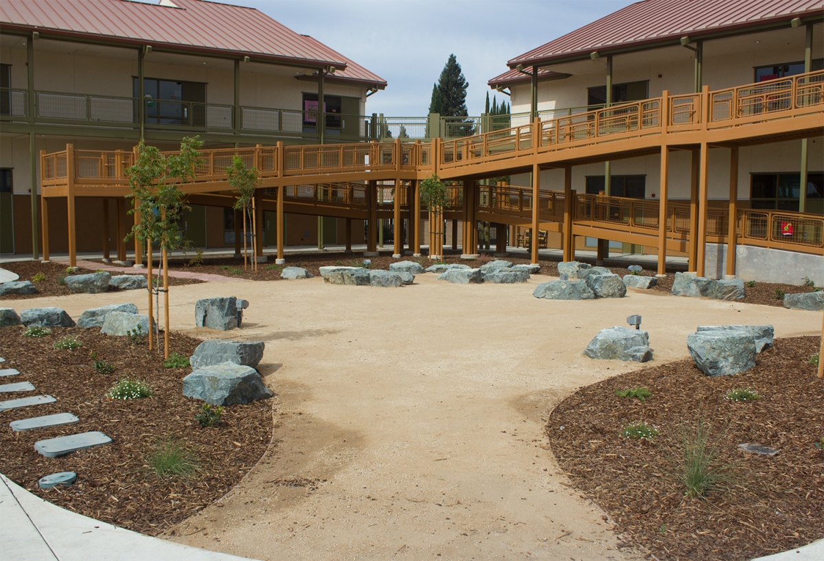 The outdoor classroom at the School of Engineering and Sciences