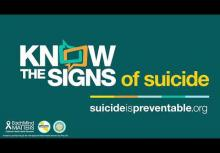 Watch for Warning Signs of Suicide September is Suicide Prevention Awareness Month