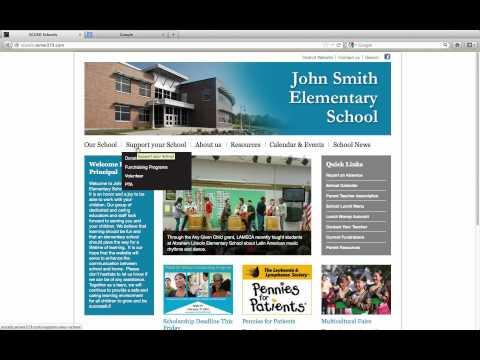 Getting Started: An introduction to the school web template