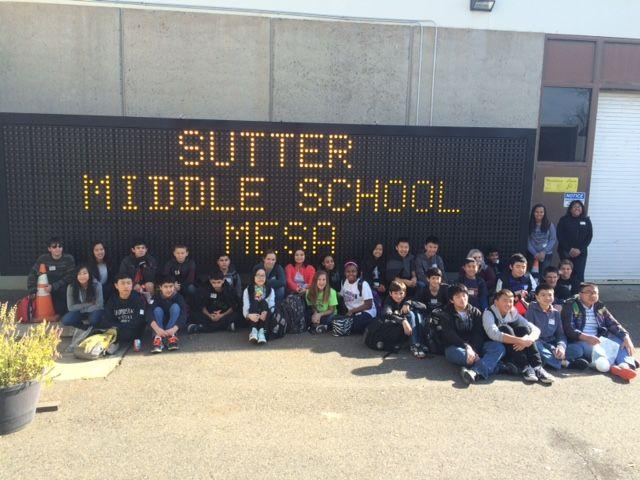 Image of Sutter MESA students visit Caltrans TransLab
