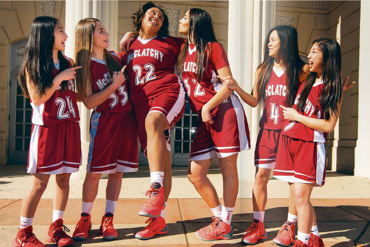 Image of CKM girls basketball team slays Dragons, gets magazine spread
