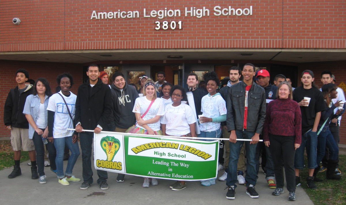 Image of American Legion students march to honor civil rights heroes