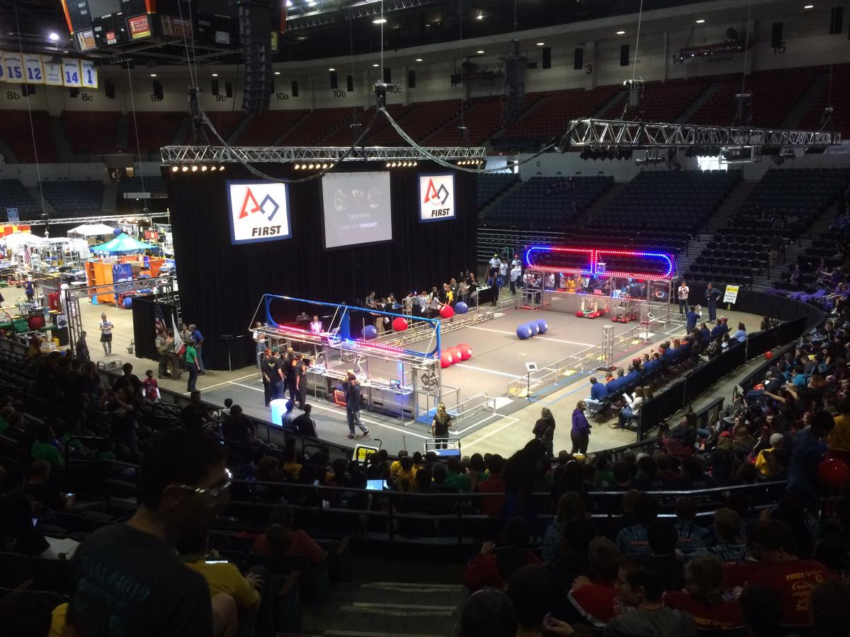 Image of Watch robots battle it out at this weekend's FIRST competition in Davis