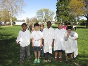 Image of Ethel I. Baker students participate in the games of ancient Greece