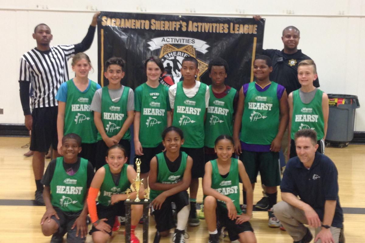 Image of Phoebe Hearst wins elementary league basketball championship