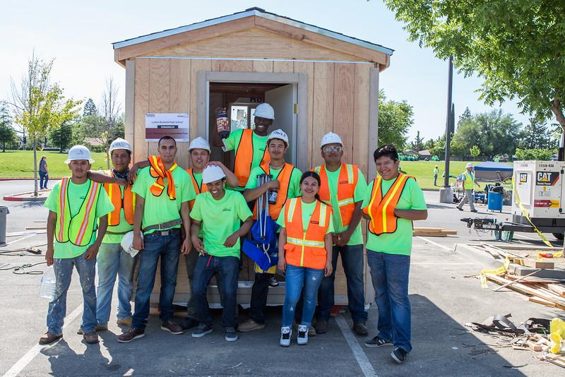 Image of Burbank students build tiny home for affordable housing group
