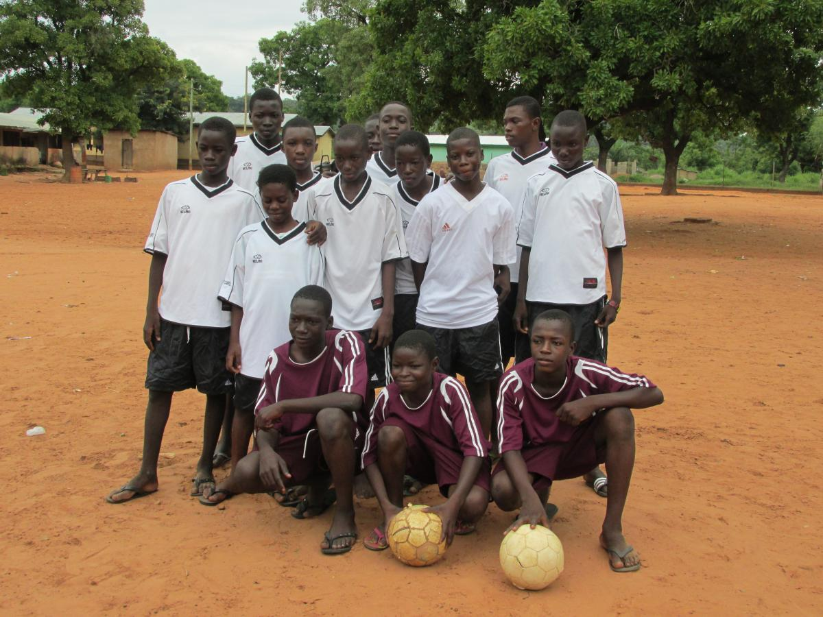 Image of West Campus donates soccer jerseys to school in Ghana