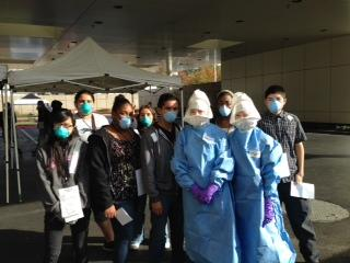Image of Health Professions students participate in UC Davis ebola disaster drill