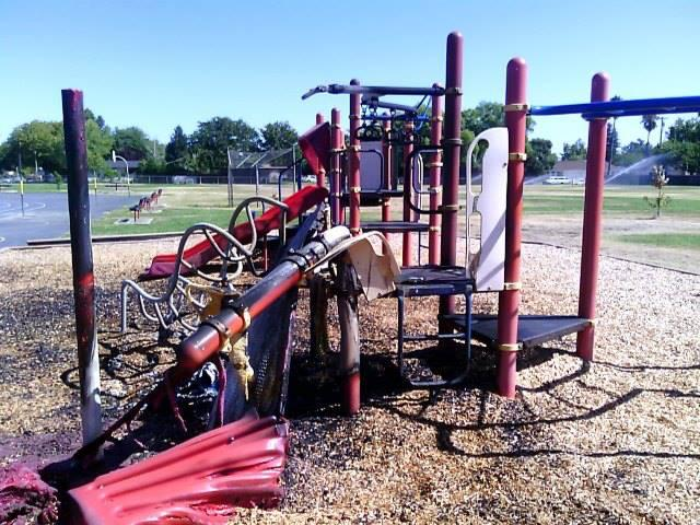 Image of Nonprofit to raise funds for arson-damaged playgrounds