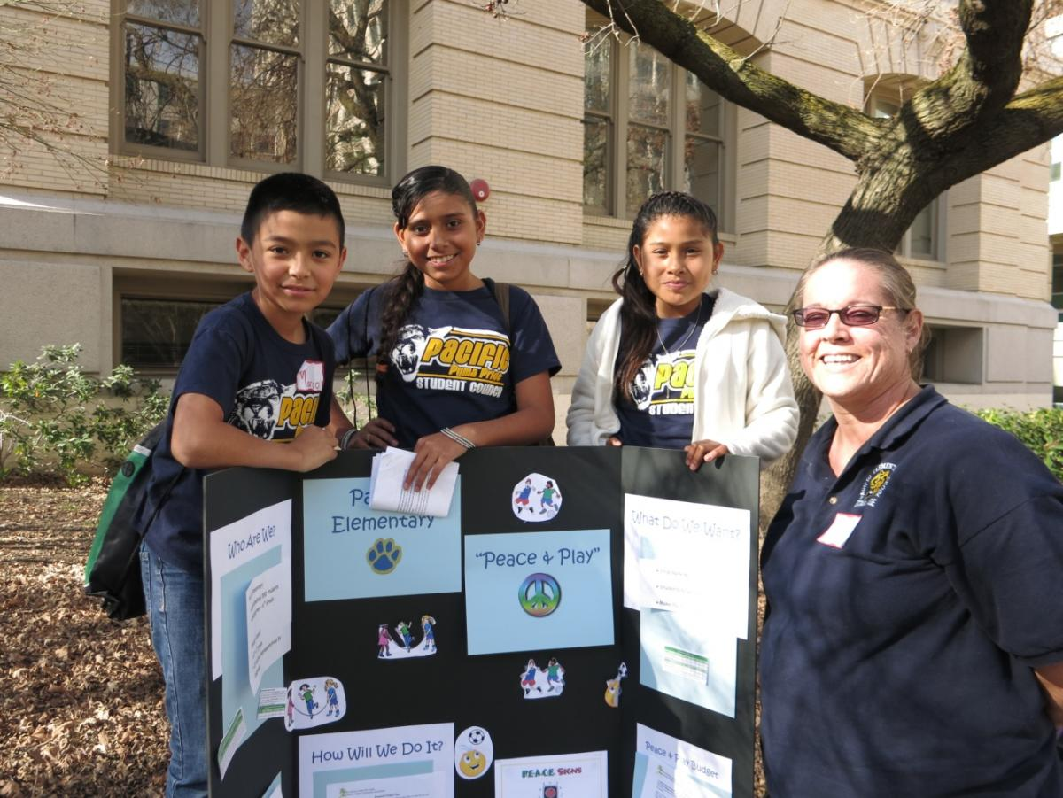 Image of Pacific Elementary's Student Council receives GABY grant