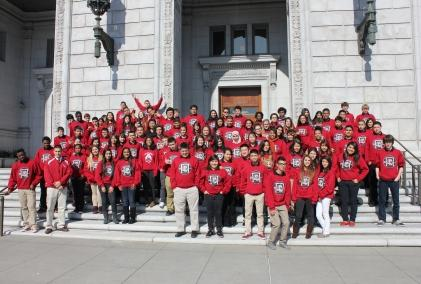 Image of McClatchy Law and Public Policy Academy students visit California's Supreme Court